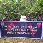 Prajurit Satgas Yonif 125 /Simbisa Gelar Patroli Patok Batas Negara RI – PNG