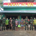 Satgas PamtasRI – PNGYonif 131/Braja Sakti Terima KunjunganKapuskesad