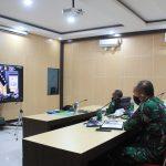 Bahas Penanganan Covid dan Pengamanan, Pangdam XVII Cenderawasih Ikuti Vicon Dengan Panglima TNI